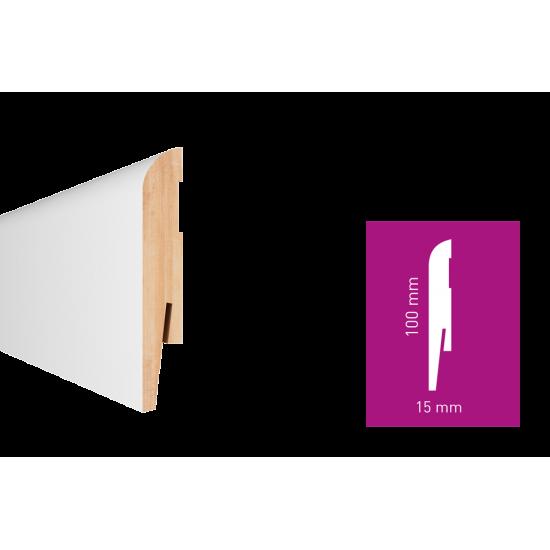 Білий МДФ плінтус Arbiton Paint-it MP1004 100x15x2420 мм